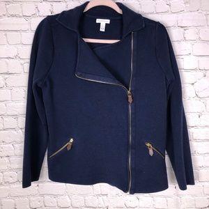 Charter club moto style jacket size Large